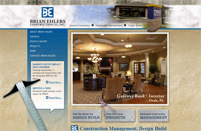 Brian Ehlers Construction Website