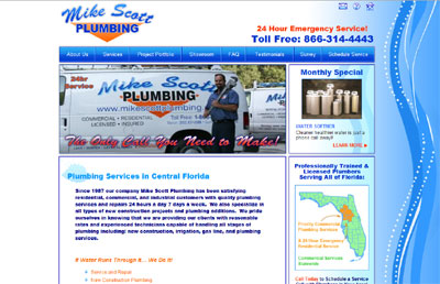 Mike Scott Plumbing Website