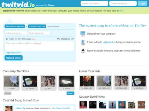 TwitVid.io - a good site to share video on Twitter.